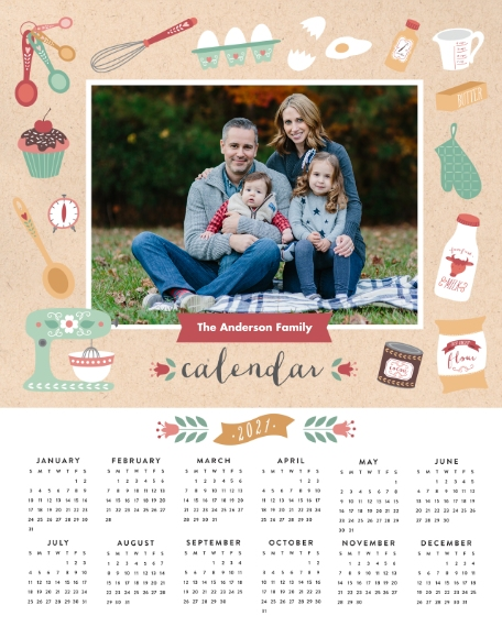 Calendar 16x20 Adhesive Poster, Home Décor -Seasonally Sweet