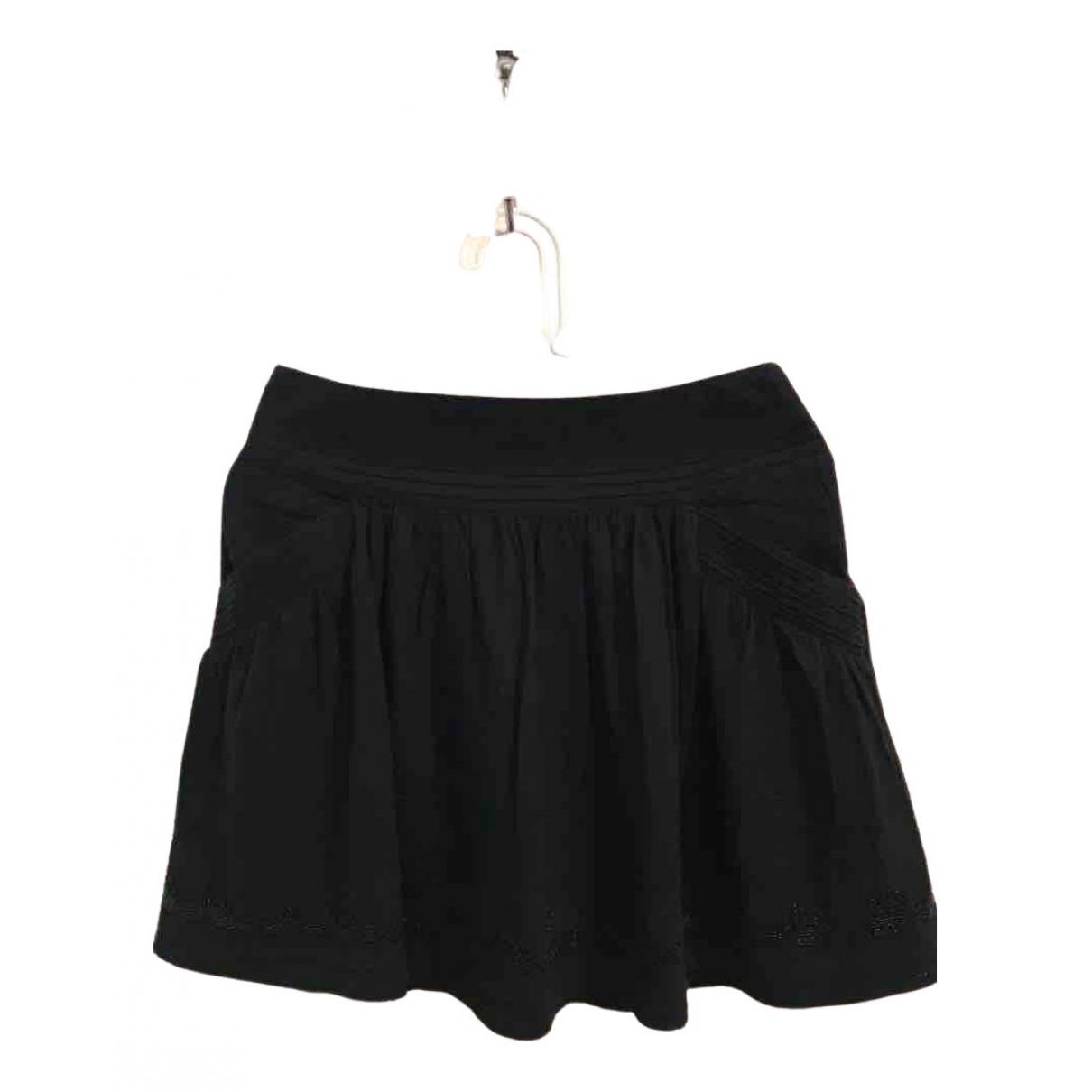 Sandro \N Black Cotton skirt for Women 1 0-5