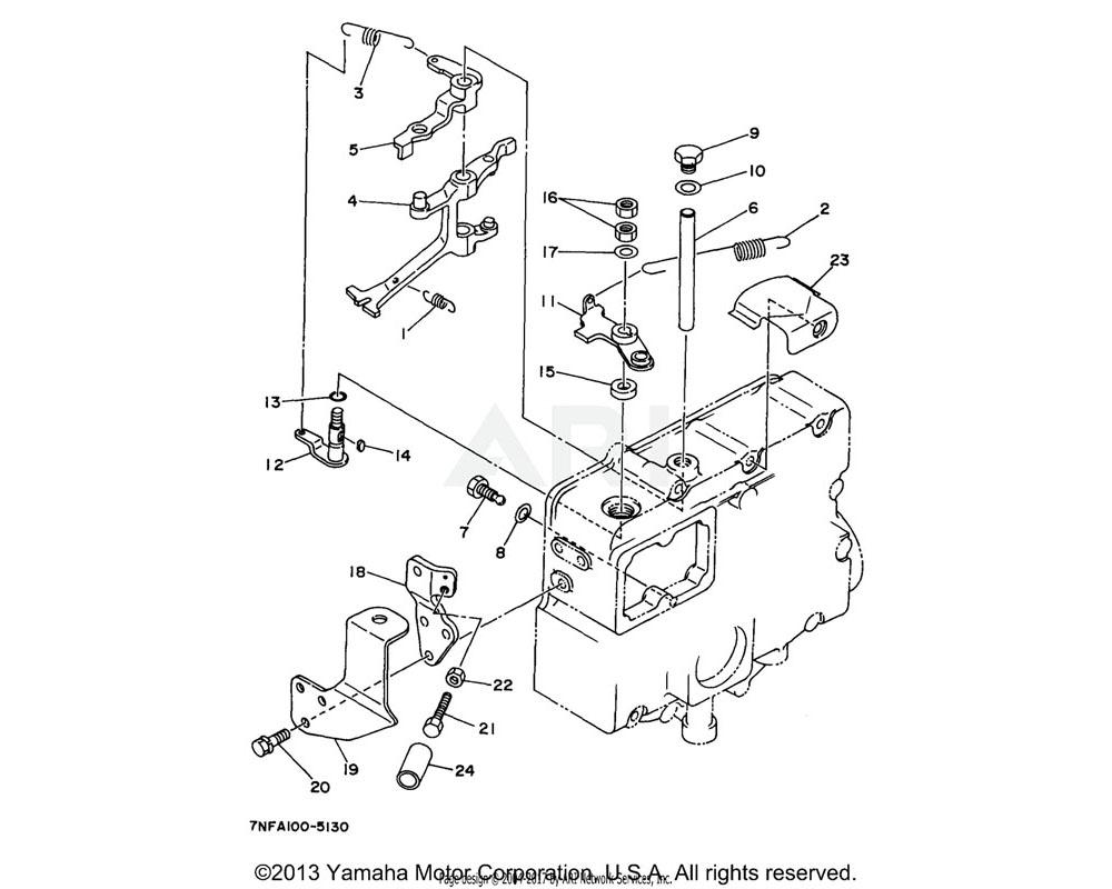 Yamaha OEM YF1-52710-42-10 BOLT, LEVER SHAFT (EDL6500)