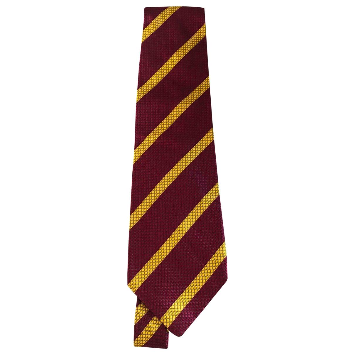 Fendi - Cravates   pour homme en soie - rouge