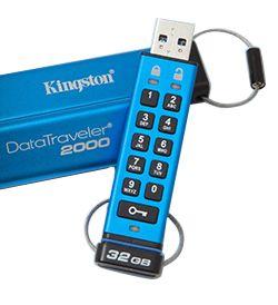 Kingston DataTraveler 2000 64GB Encrypted USB3.0