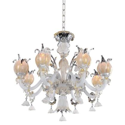027171-014-FR001 Artemisia 8-Light Chandelier with Clear Firenze Style  120V in Silver