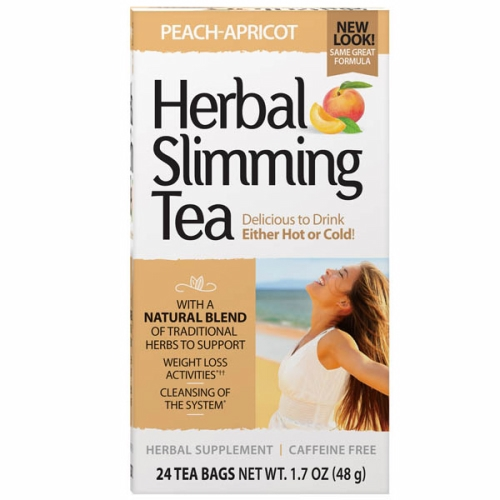 Herbal Slimming Tea Peach Apricot 24 Bags by 21st Century