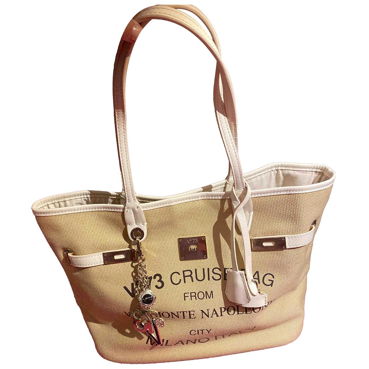 V 73 \N Handtasche in  Beige Baumwolle