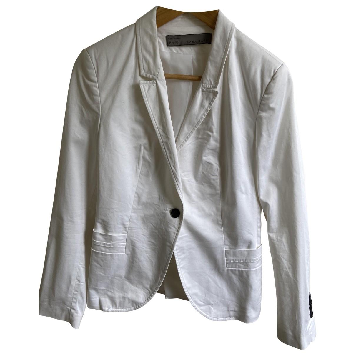 Zara \N White Cotton jacket for Women 10 UK