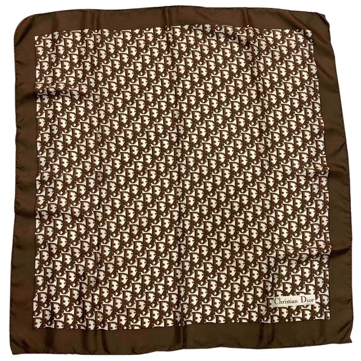 Dior N Brown Silk Silk handkerchief for Women N