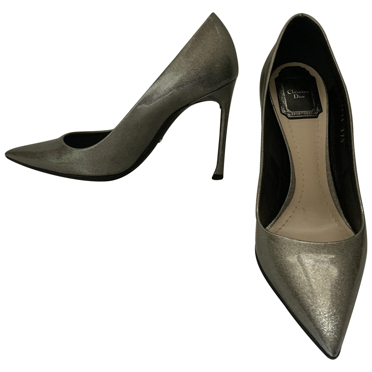 Dior - Escarpins Dior D-Stiletto pour femme en cuir verni - metallise