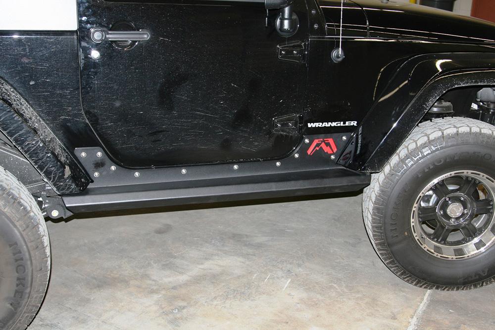 Fab Fours JK07-G1350-1 07-18 Jeep Wrangler JK 2 Door Unlimited Rock Sliders