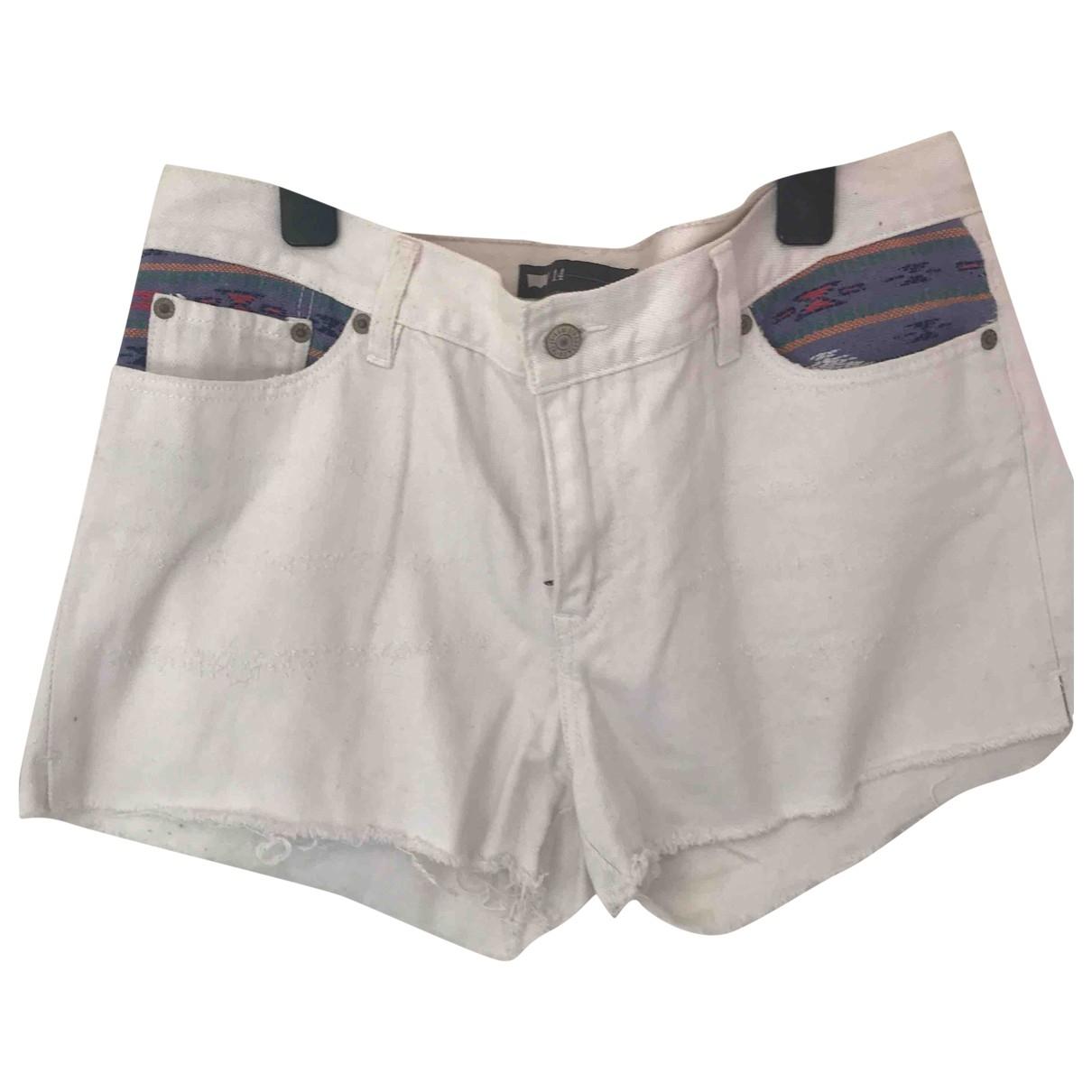 Levis - Short   pour femme en coton - blanc