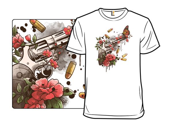 Floral Revolver T Shirt