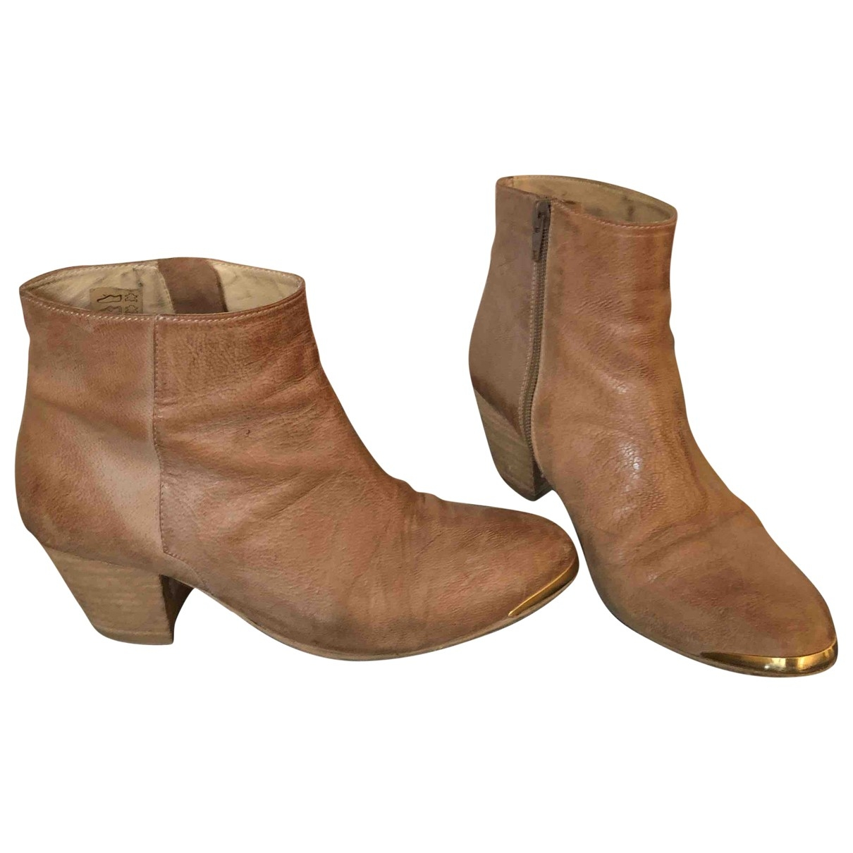 Gerard Darel \N Beige Leather Ankle boots for Women 36 EU