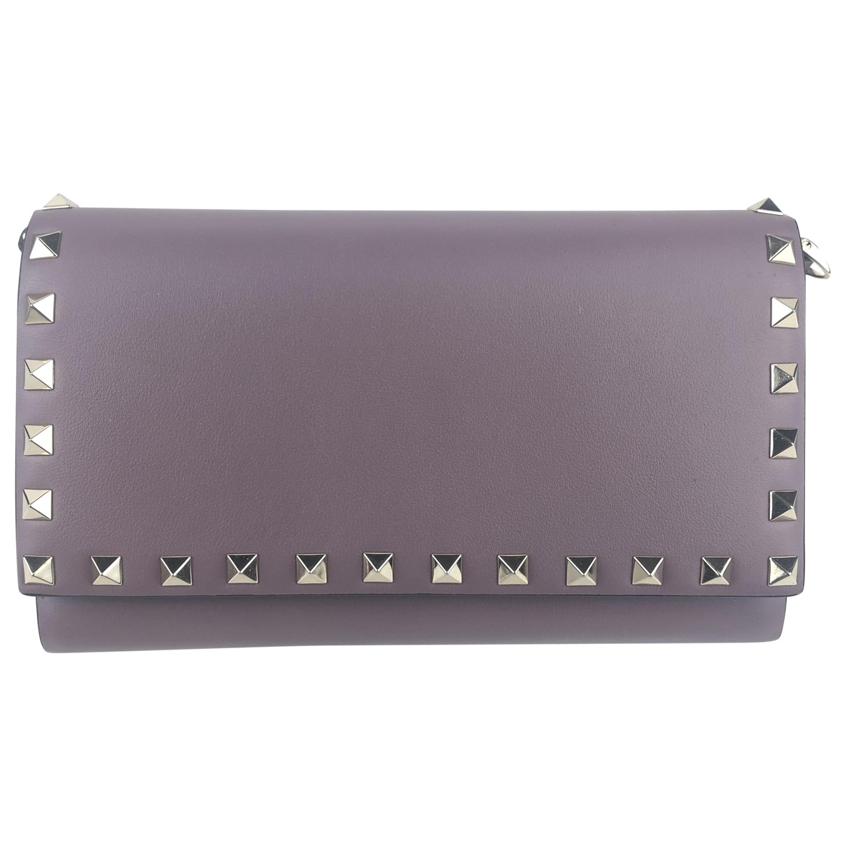 Valentino Garavani \N Purple Leather wallet for Women \N