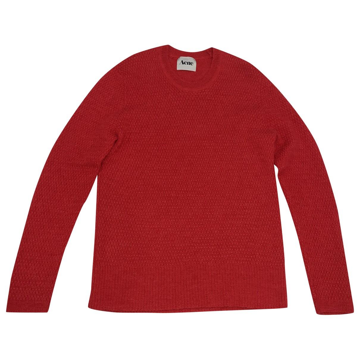 Acne Studios \N Pullover.Westen.Sweatshirts  in  Rot Wolle