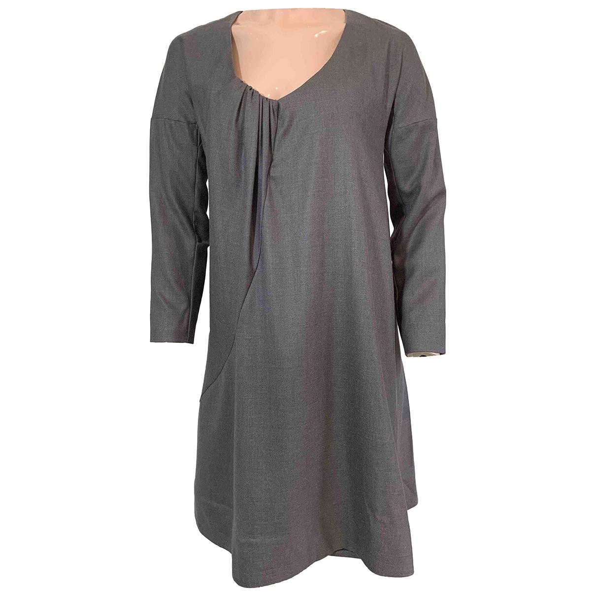 Chloe \N Kleid in  Grau Wolle