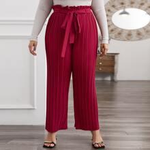 Pantalones Extra Grande Cinta Liso Elegante