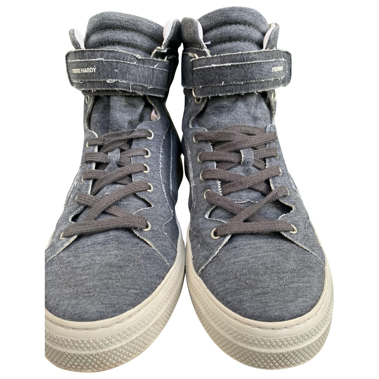 Pierre Hardy \N Anthracite Cloth Trainers for Men 43 EU