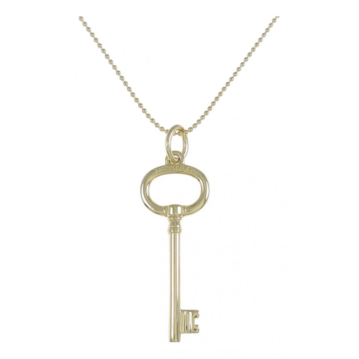 Tiffany & Co - Collier Cles Tiffany pour femme en or jaune - dore