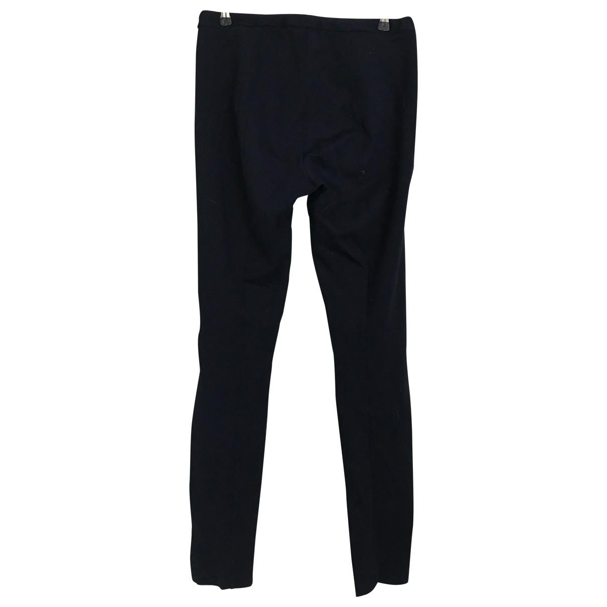 Emporio Armani \N Black Cotton Trousers for Women 42 IT