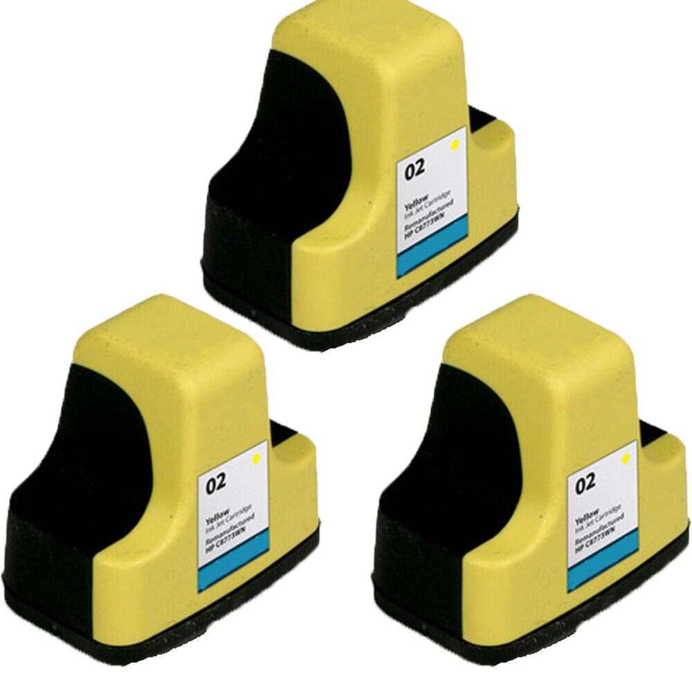 HP 02 YE C8773 Compatible Inkjet Cartridge For 3110 3210 3210v 3210xi 3310 3310xi (Pack of 3) (3x NL-HP 02 YE (C8773))