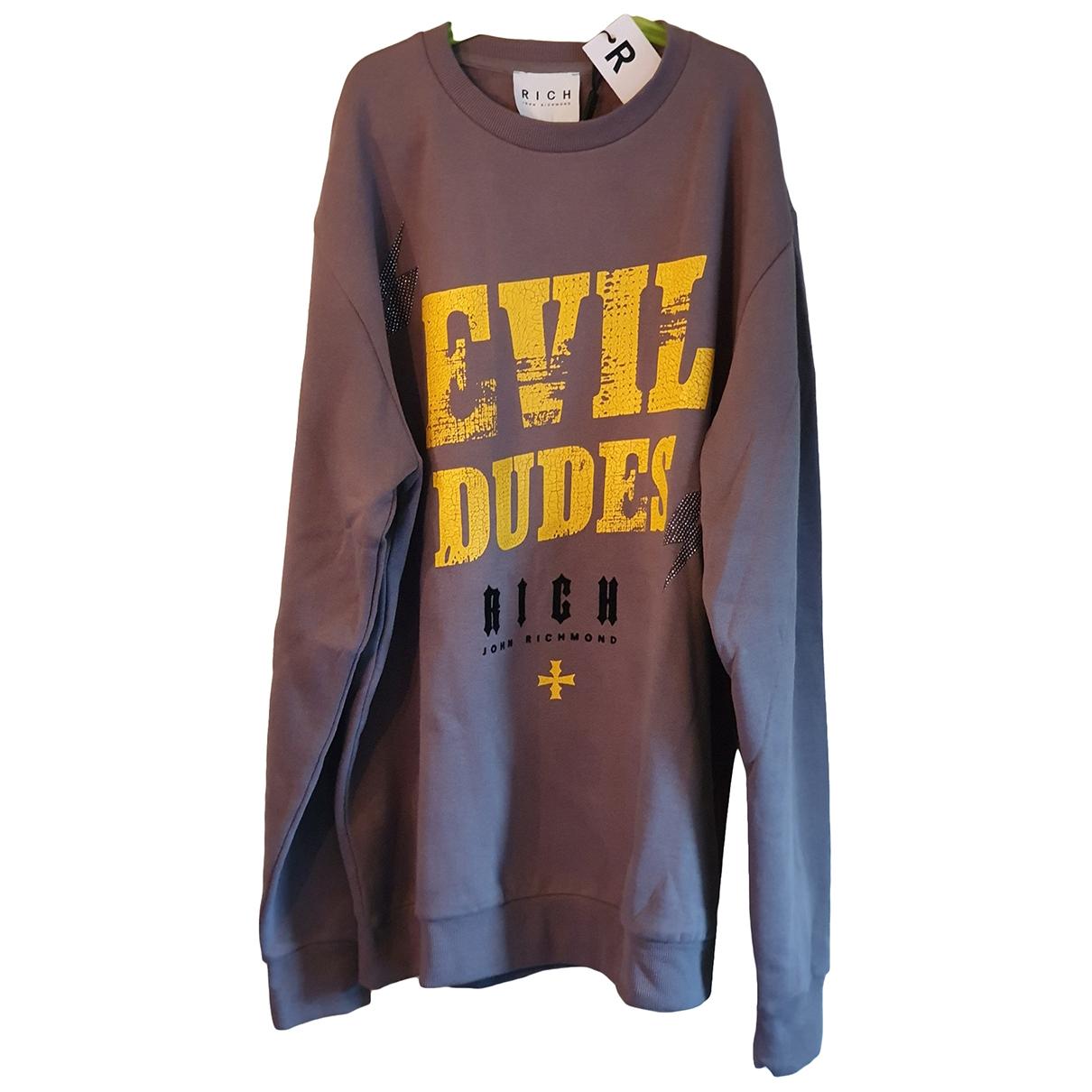 John Richmond \N Pullover.Westen.Sweatshirts  in  Grau Baumwolle