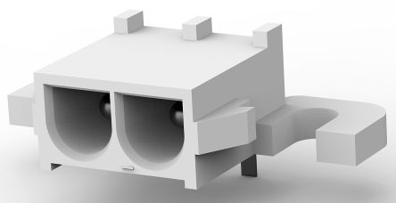 TE Connectivity , Universal MATE-N-LOK, 2 Way, 1 Row, Right Angle PCB Header