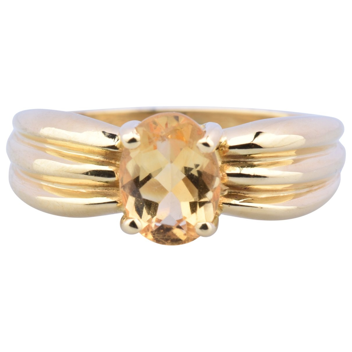 Non Signé / Unsigned Solitaire Yellow Yellow gold ring for Women 55 MM