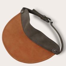 PU Leather Visor Hat