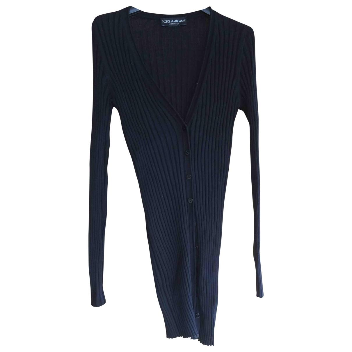 Dolce & Gabbana - Pull   pour femme en coton - noir