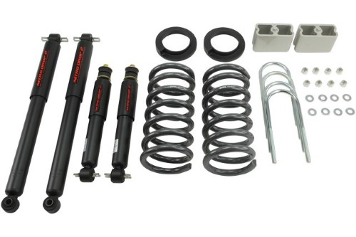 Belltech 621ND 2-3inch Front 3inch Rear Lowering Kit w/ ND2 Shocks Chevrolet S10 | GMC S15 Pickup 6cyl Ext Cab 1994-2004