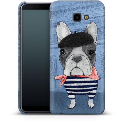 Samsung Galaxy J4 Plus Smartphone Huelle - French Bulldog with Arc de Triomphe von Barruf