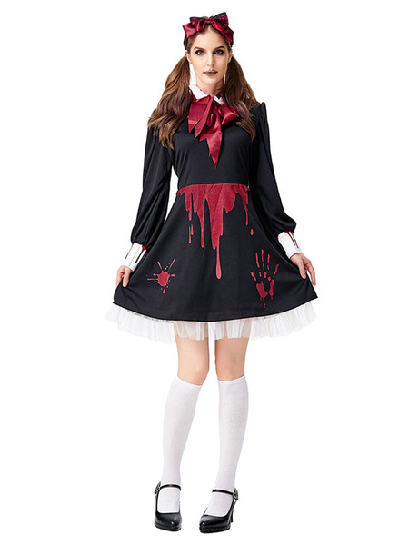 Milanoo Halloween Scary Costumes Glommy Doll Dress Outfit