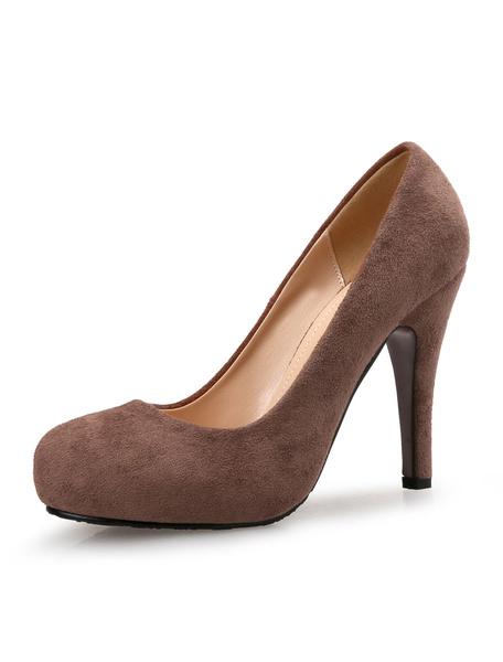 Milanoo Zapatos de plataforma de terciopelo Color liso estilo moderno