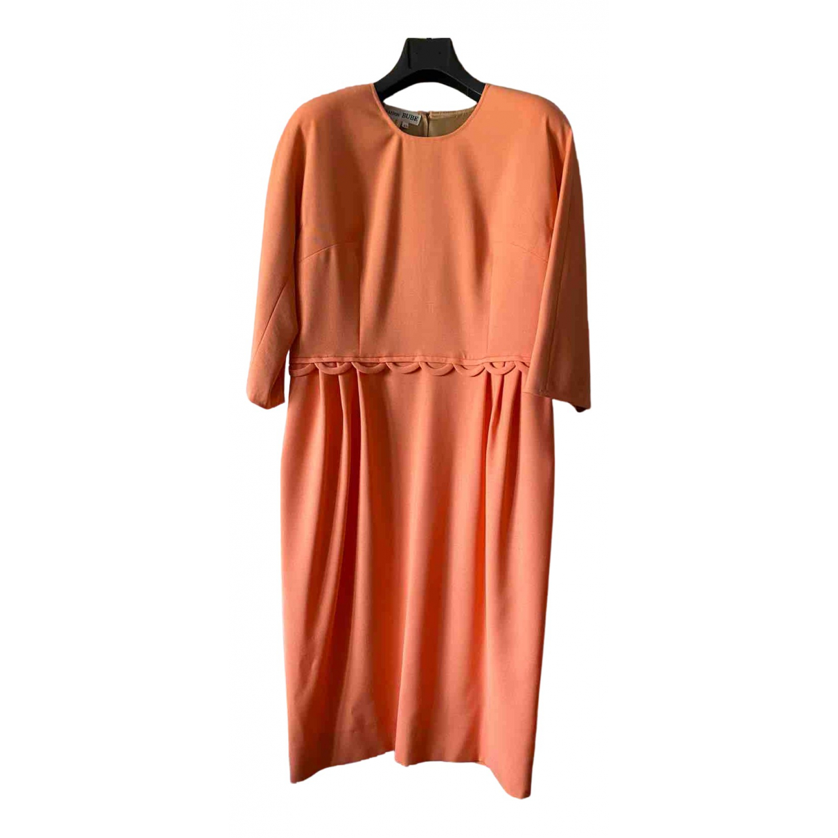 Non Signé / Unsigned N Pink Wool dress for Women 44 IT