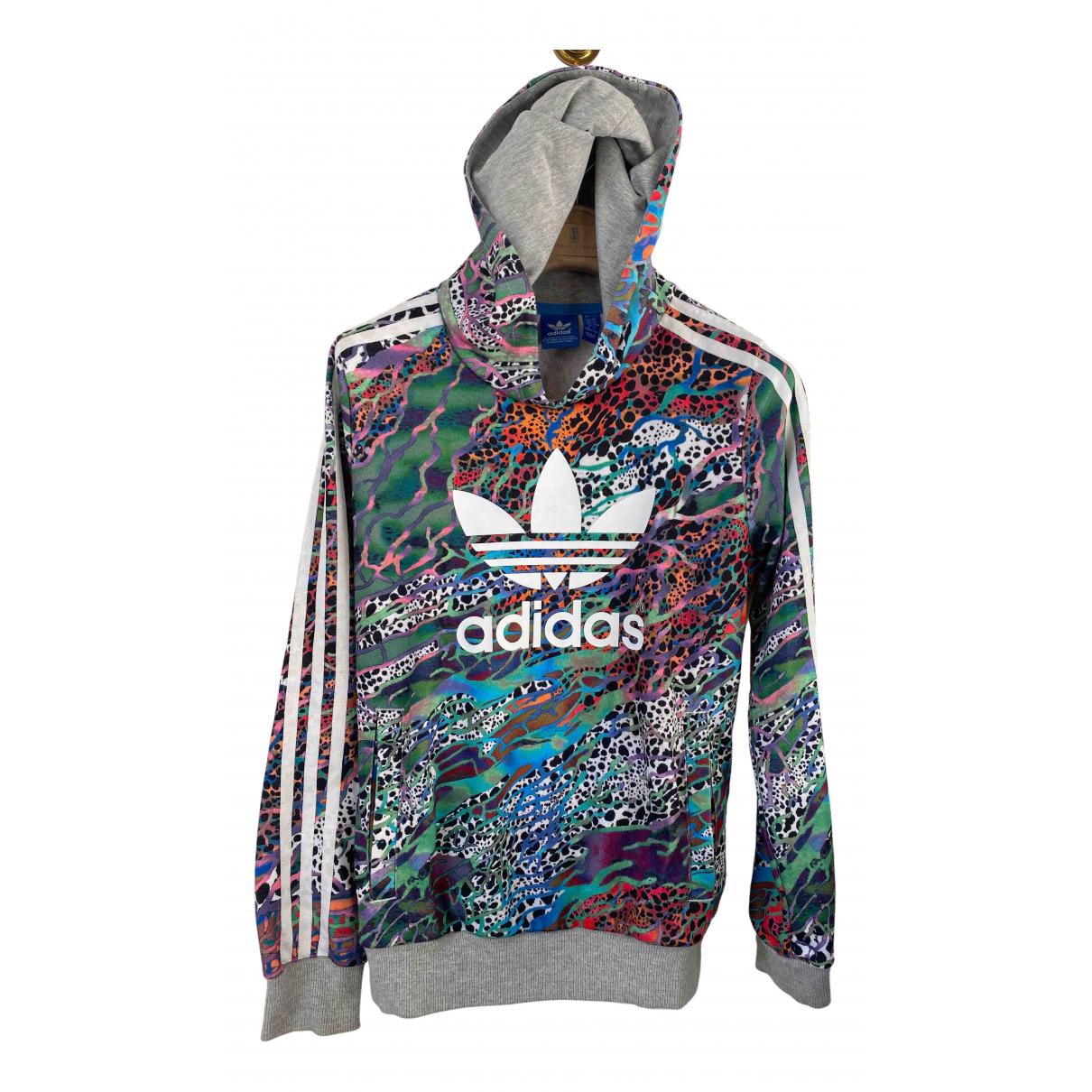 Adidas - Pull   pour enfant en coton - gris