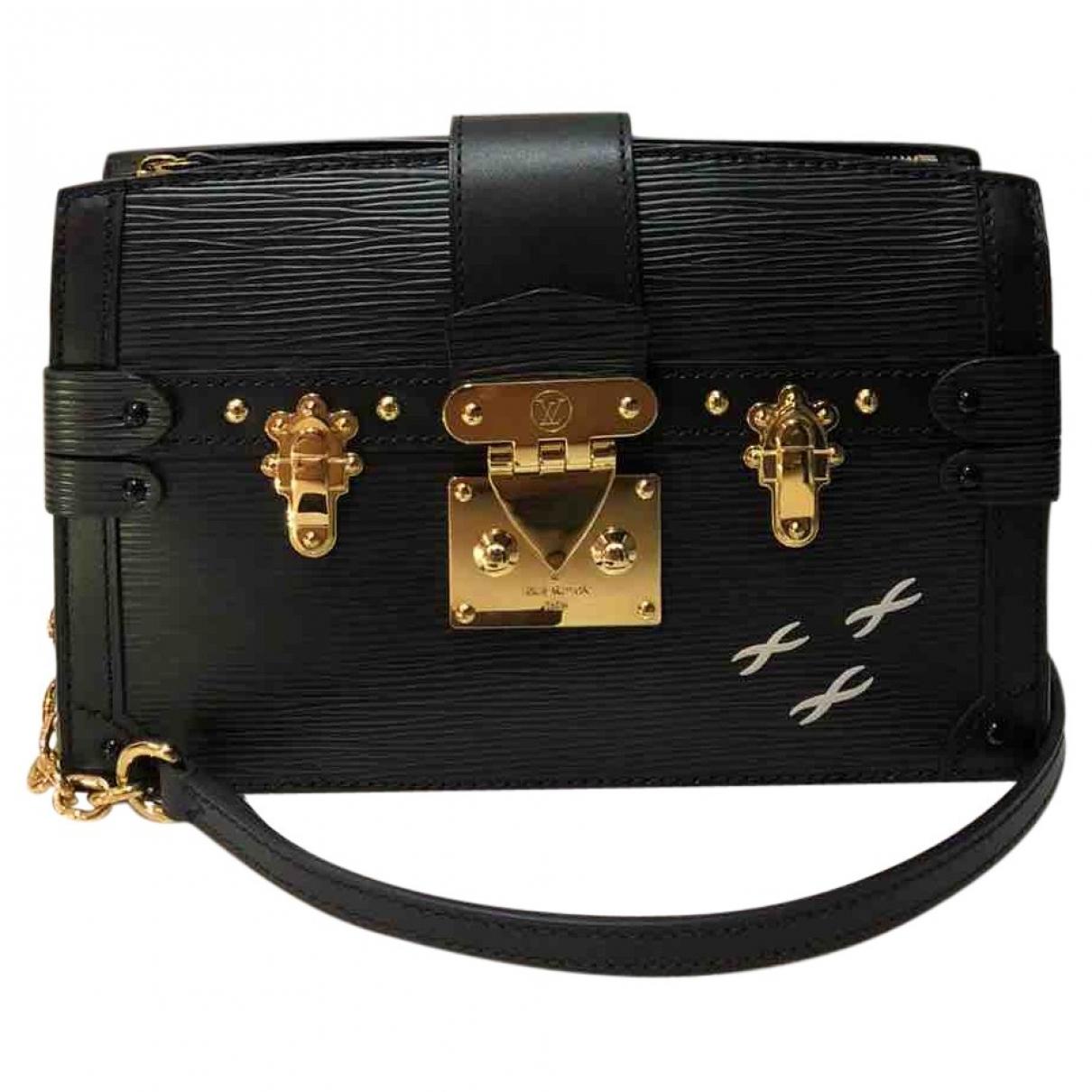 Louis Vuitton - Sac a main Pochette Trunk pour femme en cuir - noir