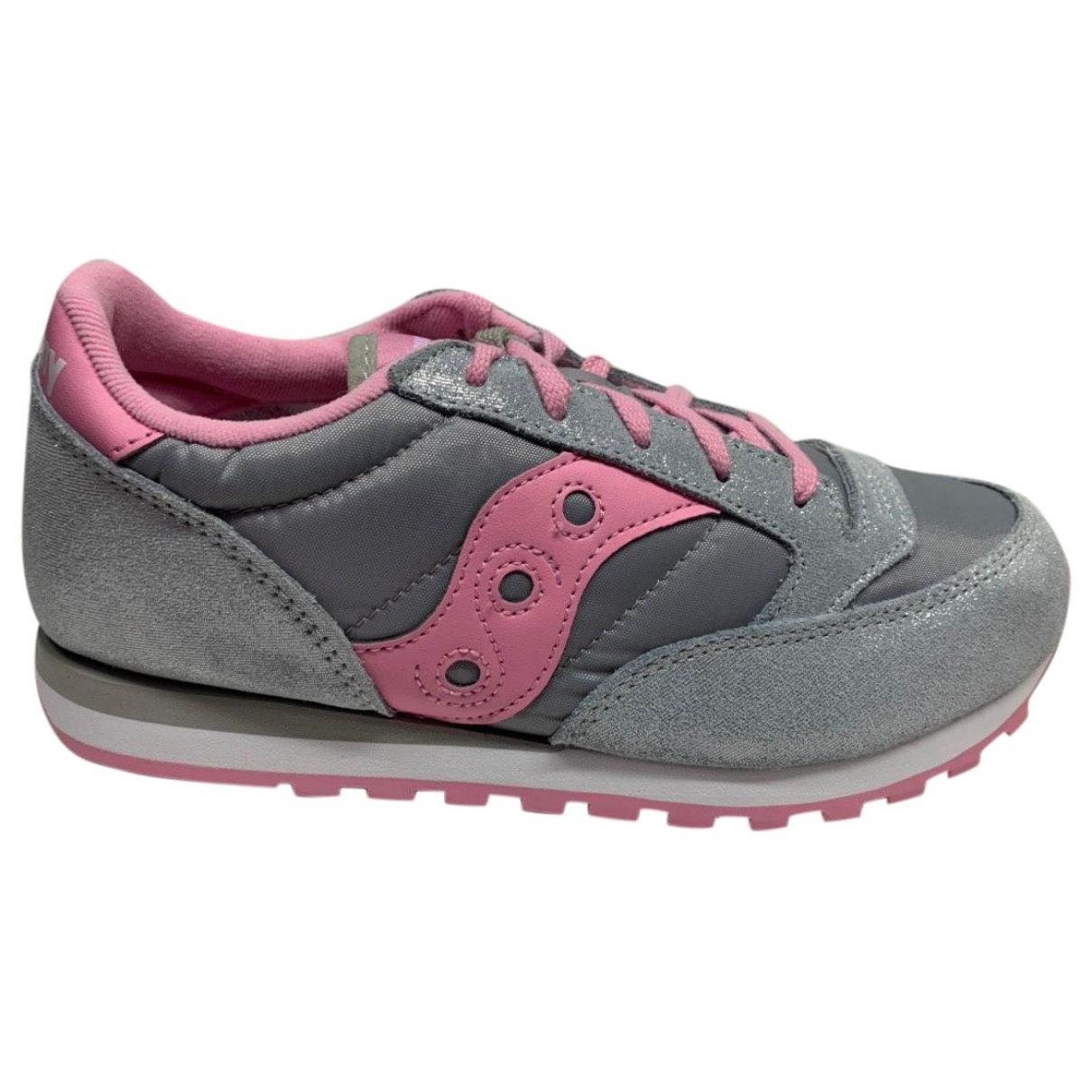 Saucony \N Sneakers in  Silber Leder