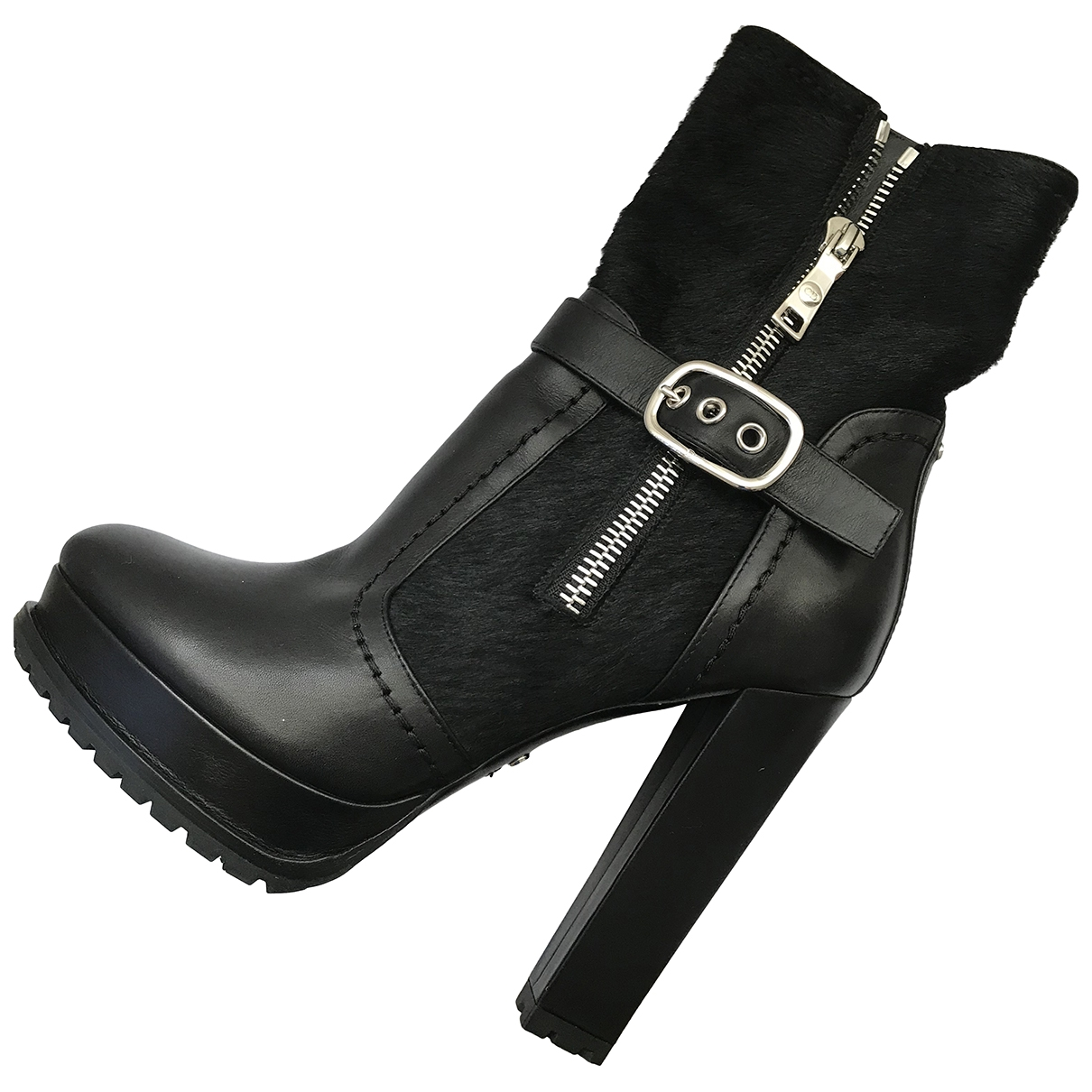Dior \N Black Leather Ankle boots for Women 38 EU