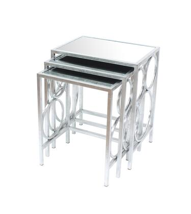 274433 Silver 3 Piece Nesting Table