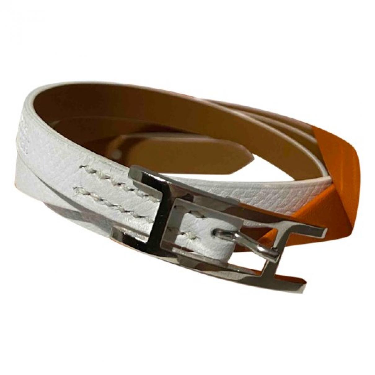 Hermes - Bracelet Hapi pour femme en cuir - blanc