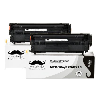 Compatible Canon FX9 FX10 cartouche de toner noire - Moustache - 2/paquet