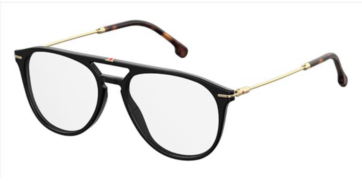 Carrera 168/V 807 Men's Glasses Black Size 53 - Free Lenses - HSA/FSA Insurance - Blue Light Block Available