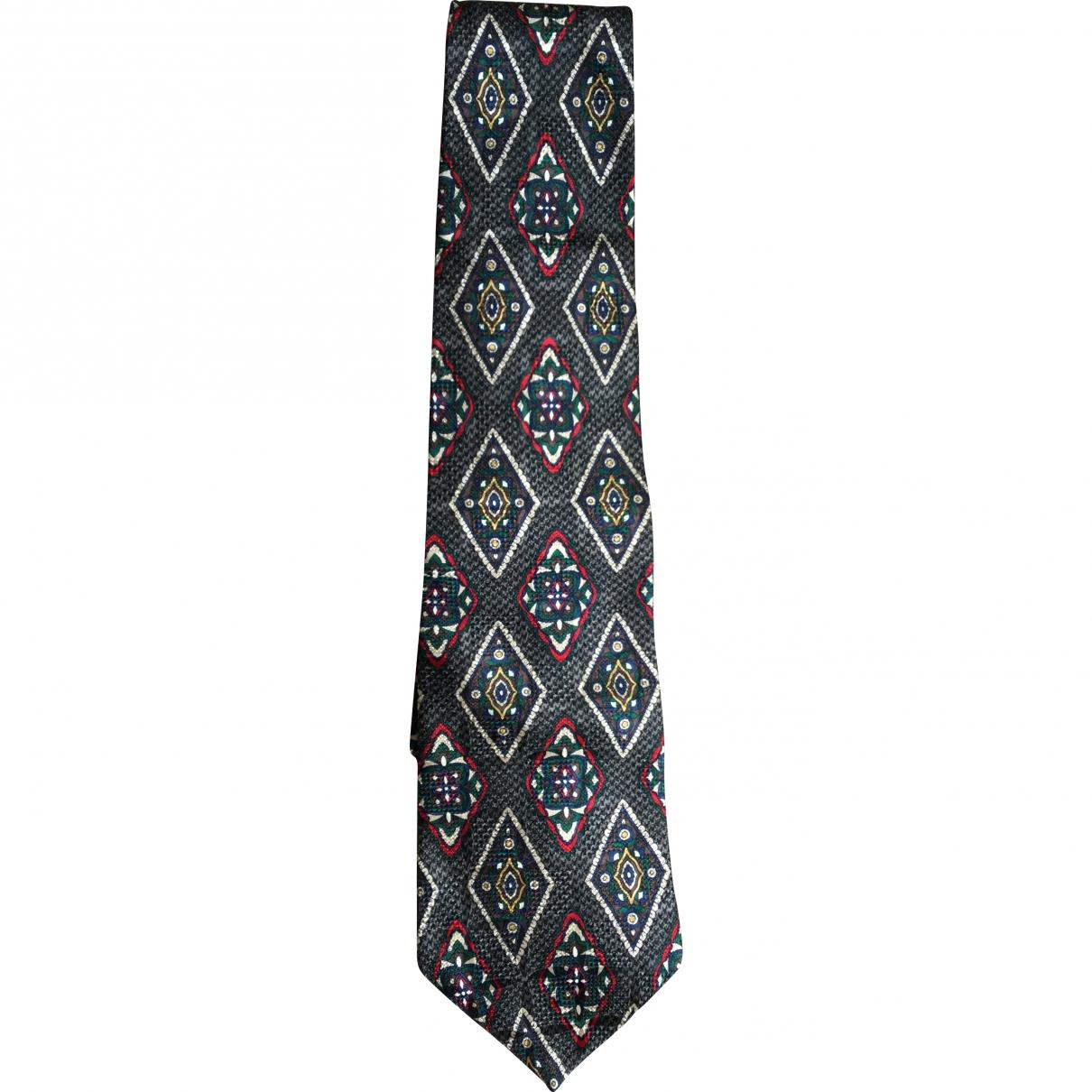 Oscar De La Renta \N Krawatten in  Grau Seide