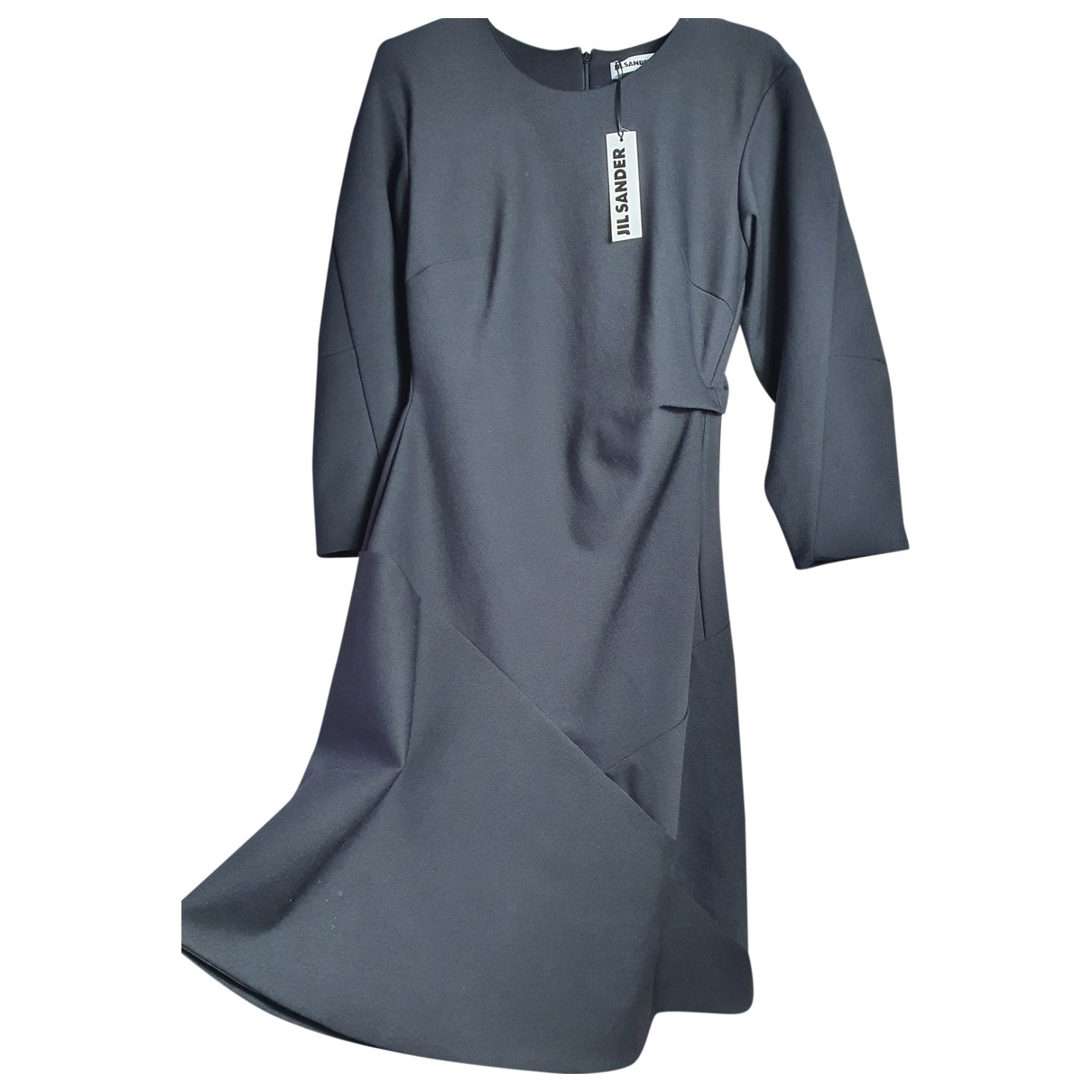 Jil Sander \N Kleid in  Schwarz Viskose