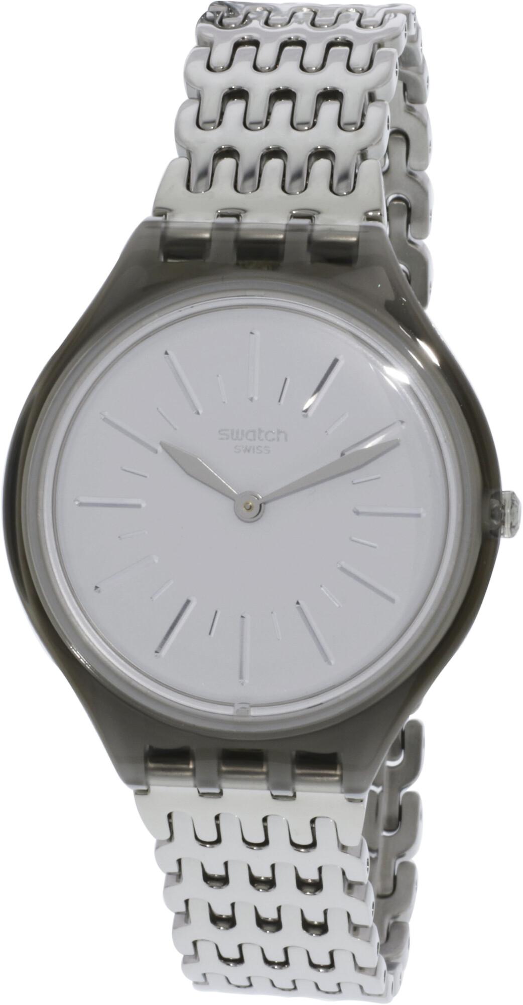 Swatch Skinparure SVOM104G Silver Stainless-Steel Swiss Quartz Fashion Watch