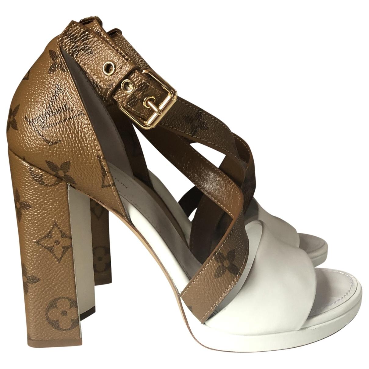 Louis Vuitton - Sandales Star trail pour femme en toile - marron