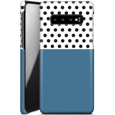 Samsung Galaxy S10 Plus Smartphone Huelle - Blue Dots von caseable Designs