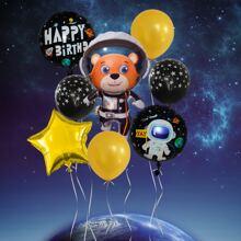 1set Cartoon Astronaut Balloon