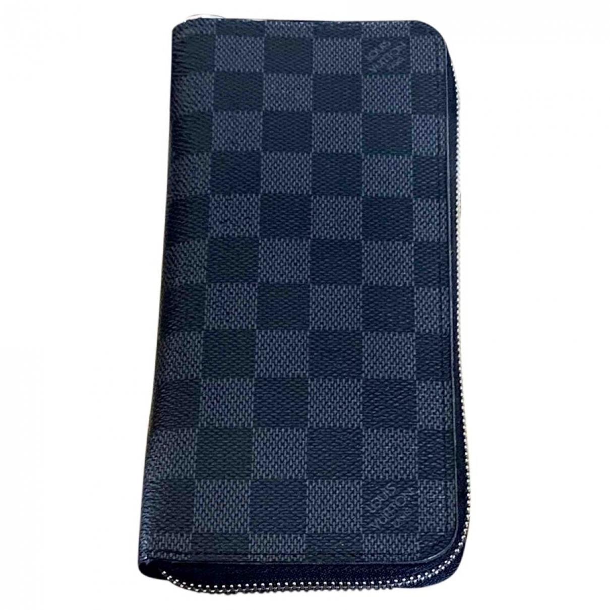 Louis Vuitton - Petite maroquinerie Zippy XL pour homme en toile - noir