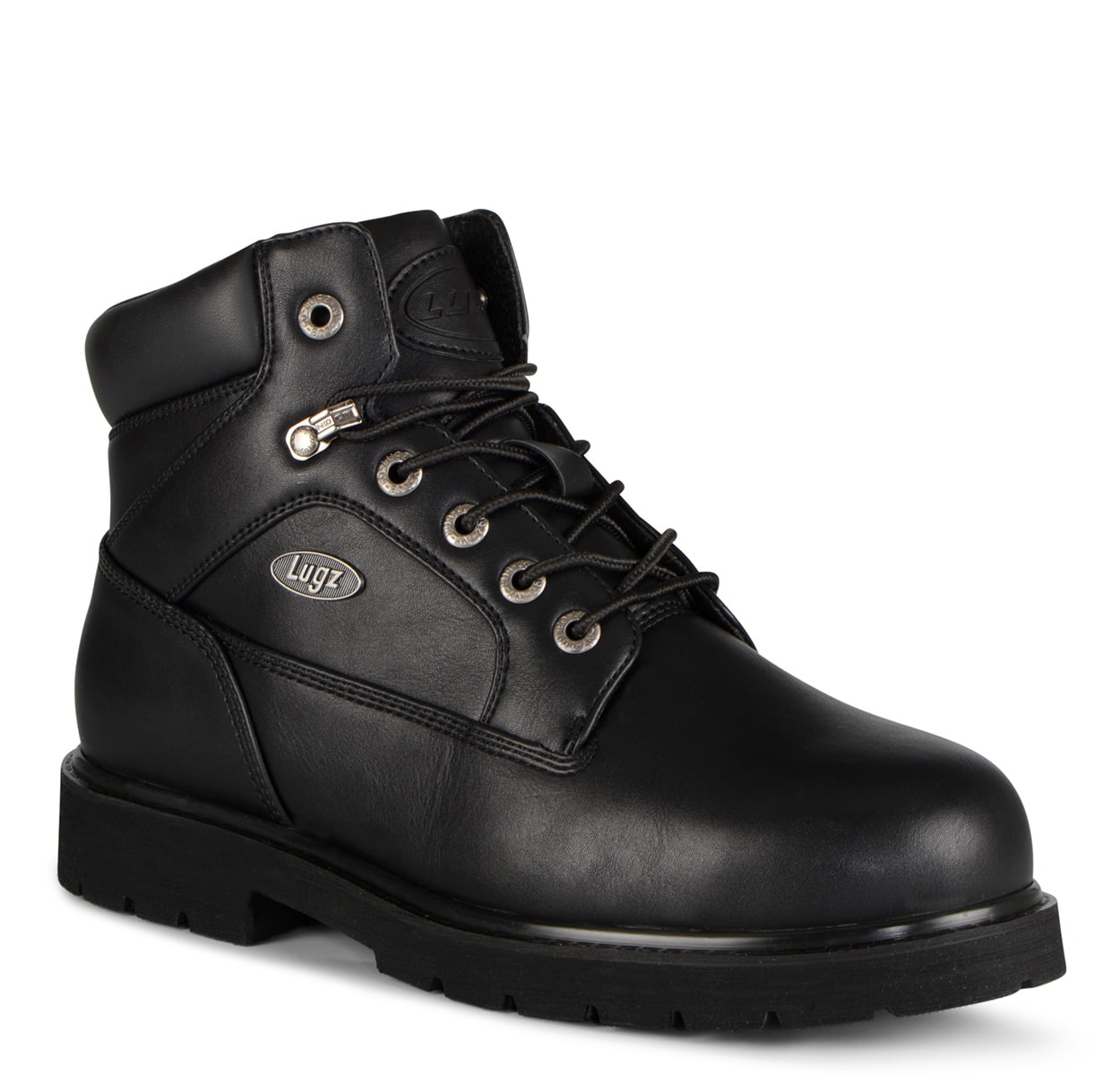 Men's Mortar Mid Steel Toe Chukka Boot (Choose Your Color: BLACK, Choose Your Size: 9.0)