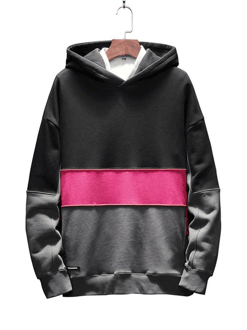 Ericdress Color Block Pullover Men's Casual Hoodies